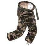 Buy Camo Multi Pockets Zippered Cargo Pants 30 ARMY GREEN CAMOUFLAGE