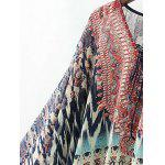 Tribal Print High Low Chiffon Blouse deal