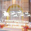 Showcase Decor Removable Merry Christmas Deer DIY Wall Stickers - WHITE