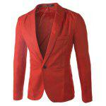 Buy RED Casual Tailored Collar Single Button Solid Color Blazer For Men for $14.03 in GearBest store