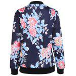 cheap Zip Up Print Bomber Jacket