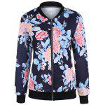 Zip Up Print Bomber Jacket