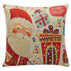 Merry Cartoon Santa Claus Gifts Pillow Case - RED
