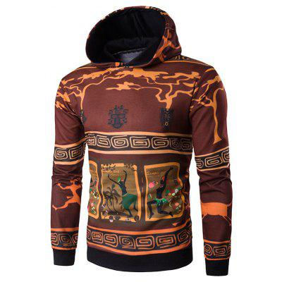 Hooded 3D Ethnic Style Cartoon Pullover Hoodie