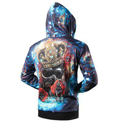 Side Pocket Crown Skull 3D Print Zip Up HoodieMens Hoodies &amp; Sweatshirts<br>Side Pocket Crown Skull 3D Print Zip Up Hoodie<br><br>Clothing Length: Regular<br>Material: Polyester<br>Package Contents: 1 x Hoodie<br>Sleeve Length: Full<br>Style: Fashion<br>Weight: 0.680kg