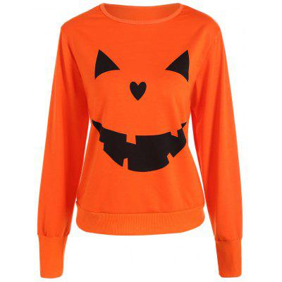 Halloween Pumpkin Pattern Orange Sweatshirt