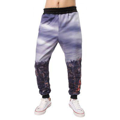 City 3D stampato elastico in vita Jogger Pants