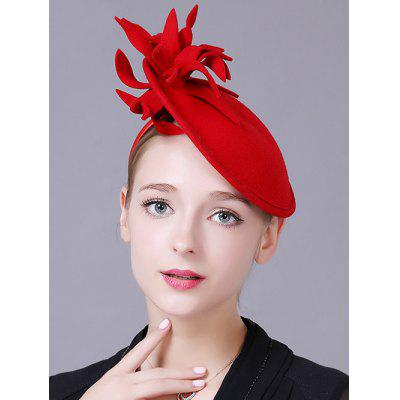 Flower Feather Cocktail Hat