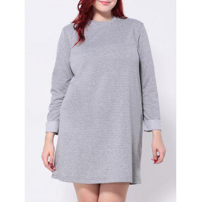Plus Size Langarm T-Shirt-Kleid