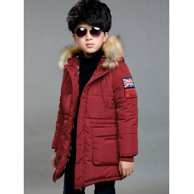 Zipped Snap Button Patched Coat