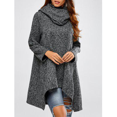 Hooded Asymmetric Sweater