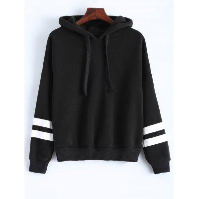 Long Sleeve Striped Oversized Hoodie
