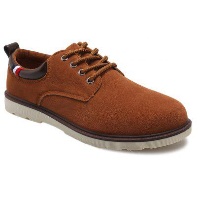 Buy LIGHT BROWN Suede Eyelet Casual Shoes for $15.42 in GearBest store