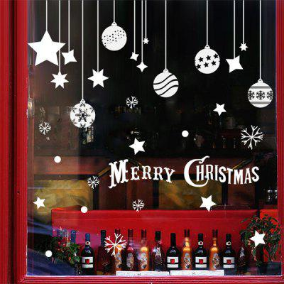 Removable Pendants Merry Christmas DIY Window Wall Stickers
