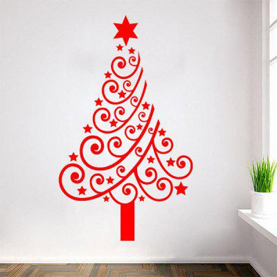 Buy Multicolor Christmas Tree Glass Window Vinyl Wall Stickers Custom RED for $5.68 in GearBest store