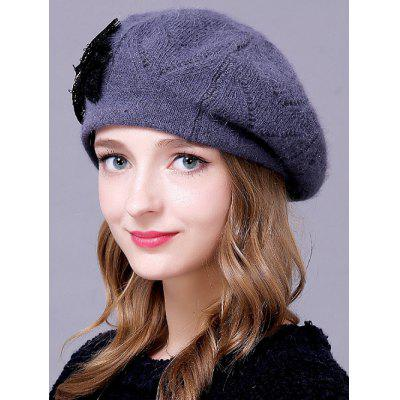 Outdoor Knitted Bowknot Slouchy Hat