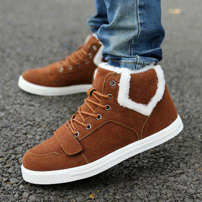 """Suede Fuzzy Ankle BootsMens Boots<br>Suede Fuzzy Ankle Boots<br><br>Boot Height: Ankle<br>Boot Type: Fashion Boots<br>Closure Type: Lace-Up<br>Embellishment: None<br>Gender: For Men<br>Heel Hight: Flat(0-0.5"""")<br>Heel Type: Flat Heel<br>Outsole Material: Rubber<br>Package Contents: 1 x Boots (pair)<br>Pattern Type: Solid<br>Season: Winter<br>Shoe Width: Medium(B/M)<br>Toe Shape: Round Toe<br>Upper Material: Suede<br>Weight: 1.120kg"""