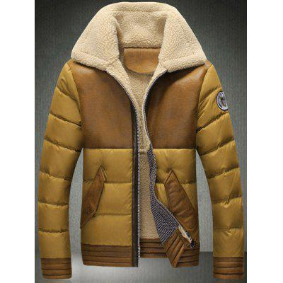 Umlegekragen Zip-Up Beflockung Down Jacket