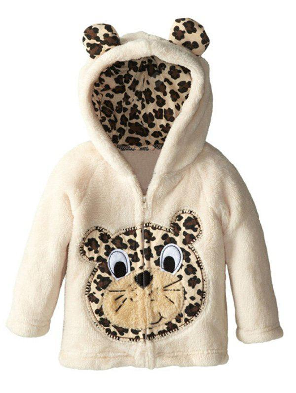 Kids Cartoon Animal Hooded Fleece Coat