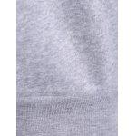 Casual Letter Print Fleece Sweatshirt - GRAY