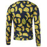 cheap All Over Banana Printed Crew Neck Sweatshirt