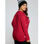 best Plus Size Snowflake Fawn Christmas Sweater