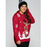 Plus Size Snowflake Fawn Christmas Sweater deal