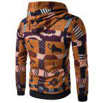 Buy Hooded 3D Ethnic Style Totem Print Hoodie L COLORMIX