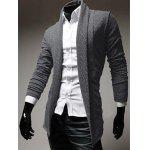 cheap Turndown Collar Slimming Knitting Cardigan
