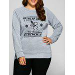 Plus Size Skeleton Print Hallowmas Sweatshirt