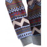 best Tribal Print Raglan Sleeves Pocket Hoodie
