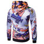 Buy 3D American Flag Star Printed Pullover Hoodie L COLORMIX