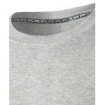 Sweat-shirt Ras du Cou Applique - GRIS LéGER