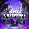 Window Showcase Decoration Merry Christmas Slogan Wall Stickers - WHITE