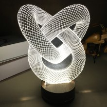 3D Visual Double Heart Shape LED Night Light Home Decoration