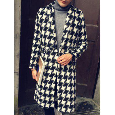 Notch Lapel Back Vent Tweed Coat