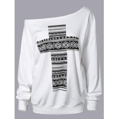 Cross Print Sweatshirt