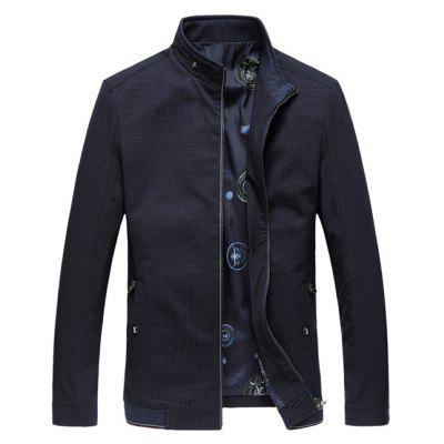 Stand Collar Rib Splicing Jacket