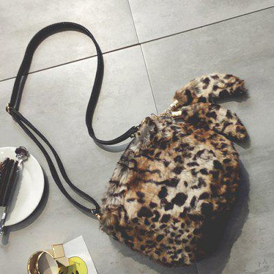 Tassels Leopard Faux Fur Crossbody Bag