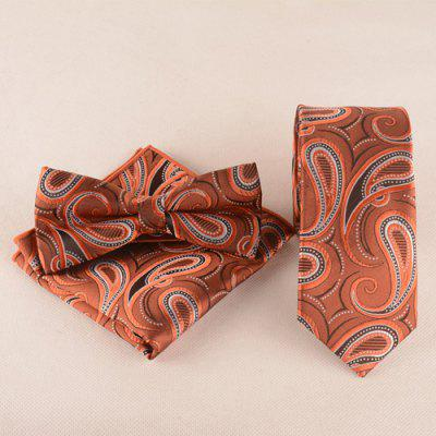Cashews Pattern Tie Pocket Square Bow Tie
