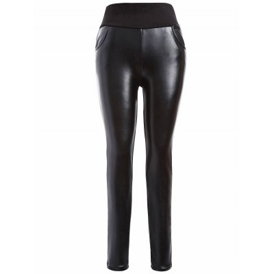 Plus Size PU Skinny Leggings