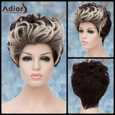 Adiors Double Color Short Fluffy Curly Lolita Cosplay Synthetic Wig