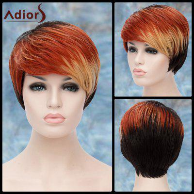 Adiors Multicolor Short Side Bang Straight Lolita Synthetic Wig