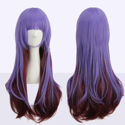 Long Full Bang Straight Double Color Synthetic Cosplay Wig