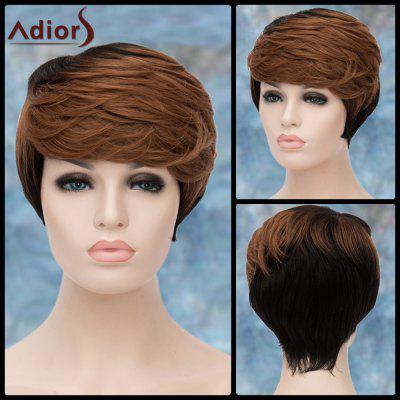 Buy COLORMIX Adiors Layered Short Highlight Oblique Bang Straight Synthetic Wig for $16.30 in GearBest store