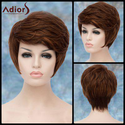 Buy COLORMIX Adiors Short Highlight Shaggy Oblique Bang Straight Synthetic Wig for $16.44 in GearBest store