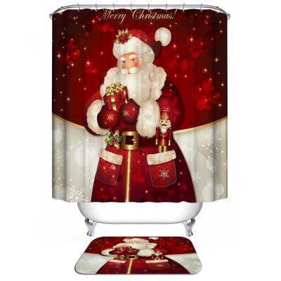 Christmas Santa Claus Waterproof Shower Curtain Barhroom Decor кабель belkin jack 3 5 m jack 3 5 m 1м белый