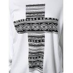 Cross Print Skew Neck Sweatshirt for sale
