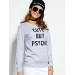 Crew Neck Graphic Pullover Sweatshirt deal