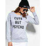 Crew Neck Graphic Pullover Sweatshirt - GRAY